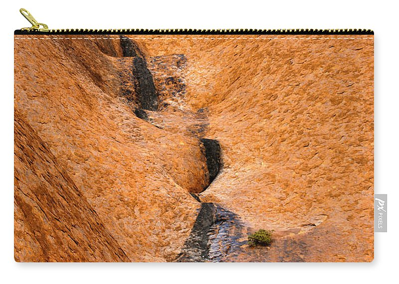 Ulara Carry-all Pouch featuring the photograph Desert Stain by Mike Dawson