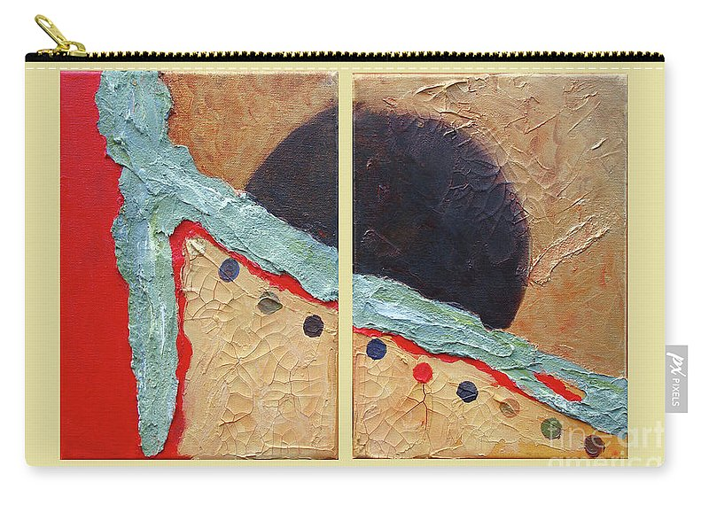 Abstract Carry-all Pouch featuring the painting Desert Sun I by Phyllis Howard