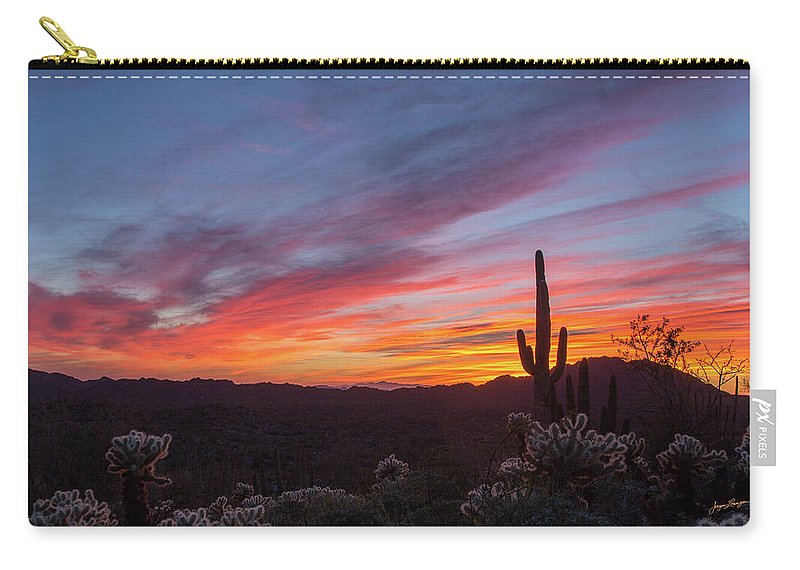 Organ Pipe Cactus National Monument Carry-all Pouch featuring the photograph Desert Sunset by Jurgen Lorenzen