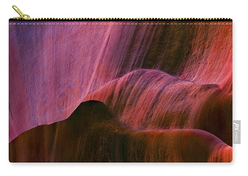 Sandstone Carry-all Pouch featuring the photograph Desert Tapestry by Mike Dawson