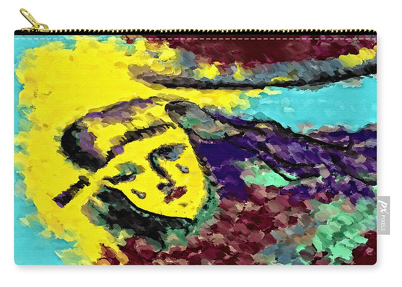 Modern Art Carry-all Pouch featuring the digital art Desert Tears by Donna Blackhall