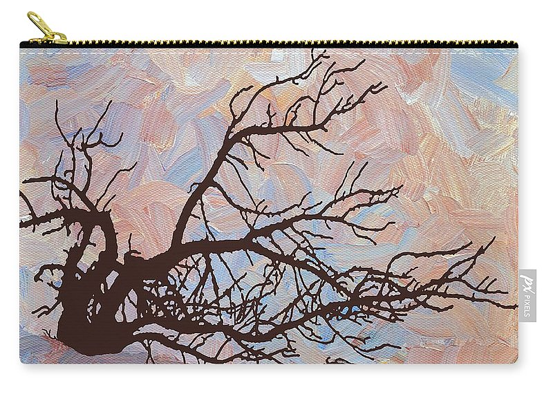 Abstract Carry-all Pouch featuring the digital art Desert Tree Branch by Linda Mears