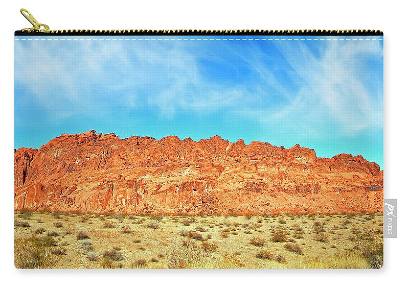 Frank Wilson Carry-all Pouch featuring the photograph Desert Valley Of Fire by Frank Wilson