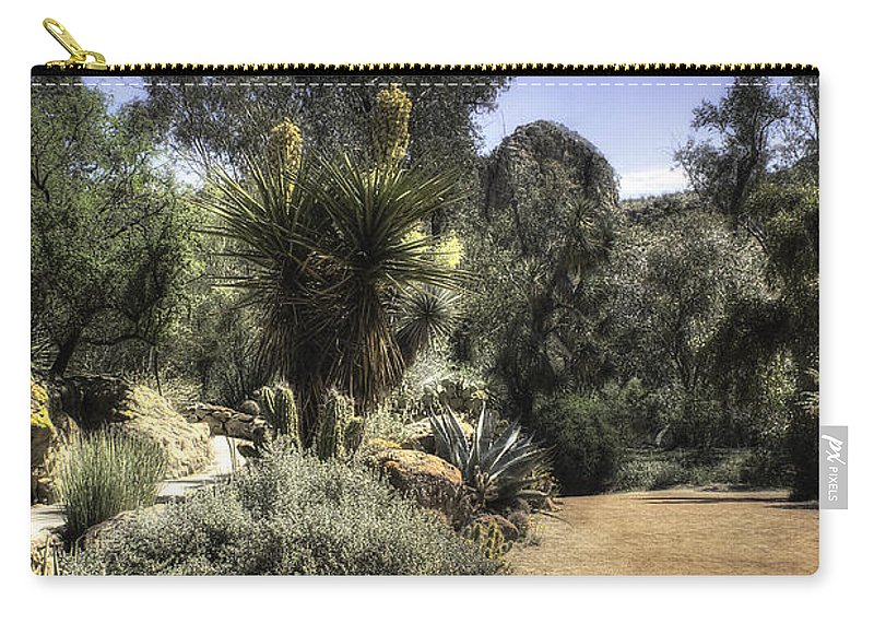 America Carry-all Pouch featuring the photograph Desert Walkway by Lynn Geoffroy
