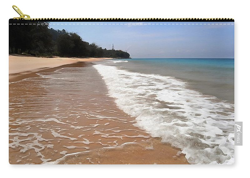 Deserted Shore Carry-all Pouch featuring the photograph Deserted Shore Of The Island Of Tioman by Sergey Lukashin