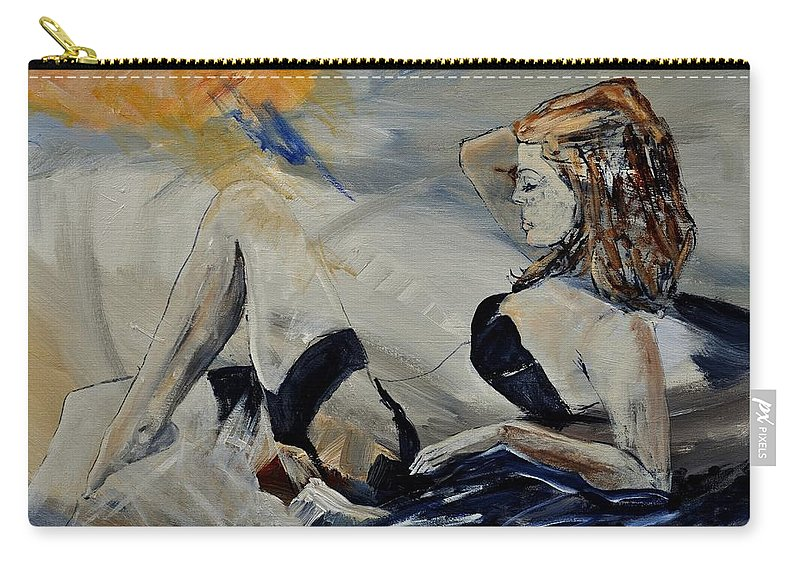 Female Carry-all Pouch featuring the painting Deshabille 570150 by Pol Ledent