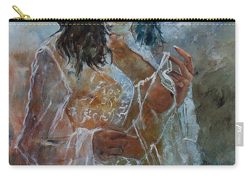 Nude Carry-all Pouch featuring the painting Deshabille 67 by Pol Ledent