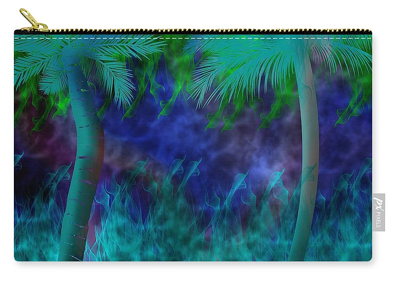 Palm Carry-all Pouch featuring the digital art Design #13 by Bukunolami