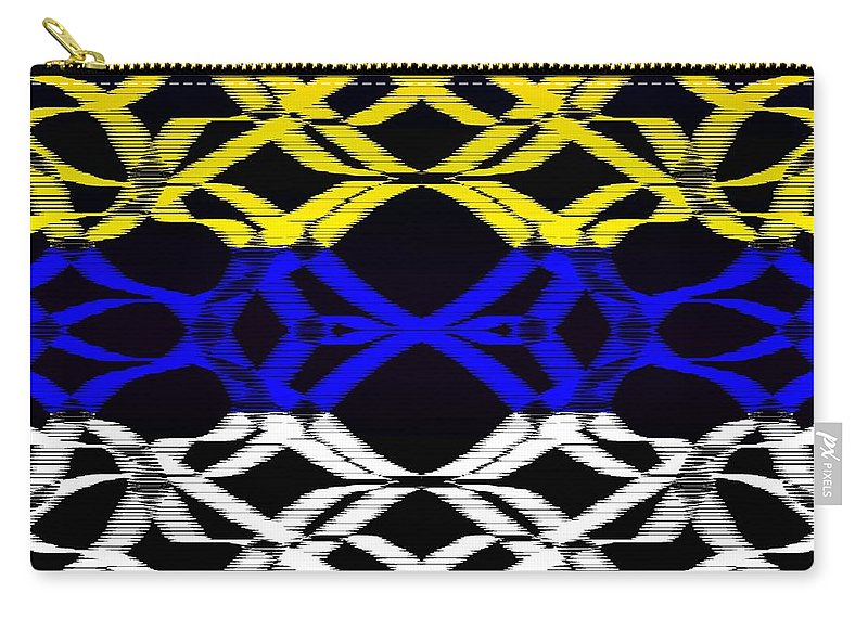 Colors Carry-all Pouch featuring the digital art Design #14 by Bukunolami