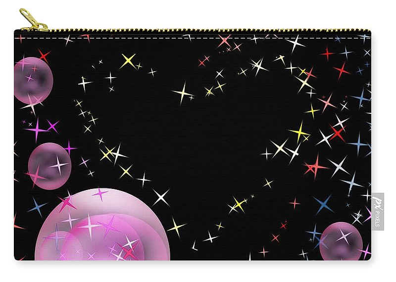 Bubbles Carry-all Pouch featuring the digital art Design #16 by Bukunolami