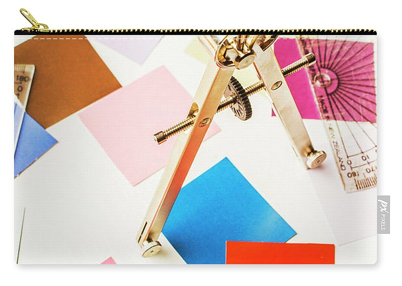 Drafting Carry-all Pouch featuring the photograph Design In Abstract Geometry by Jorgo Photography - Wall Art Gallery