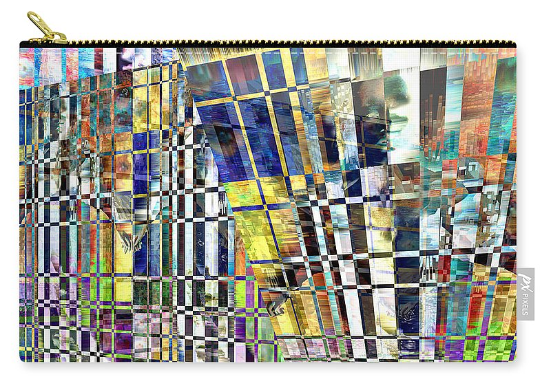 Abstract Carry-all Pouch featuring the digital art Desperate Reflections by Seth Weaver