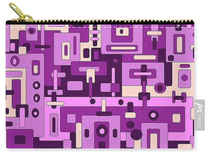 Digital Artwork Carry-all Pouch featuring the digital art Dessert Sunset by Jordana Sands
