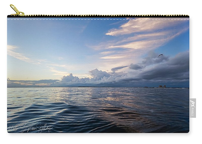 Destin Carry-all Pouch featuring the photograph Destin High Tide by Stephen Settles