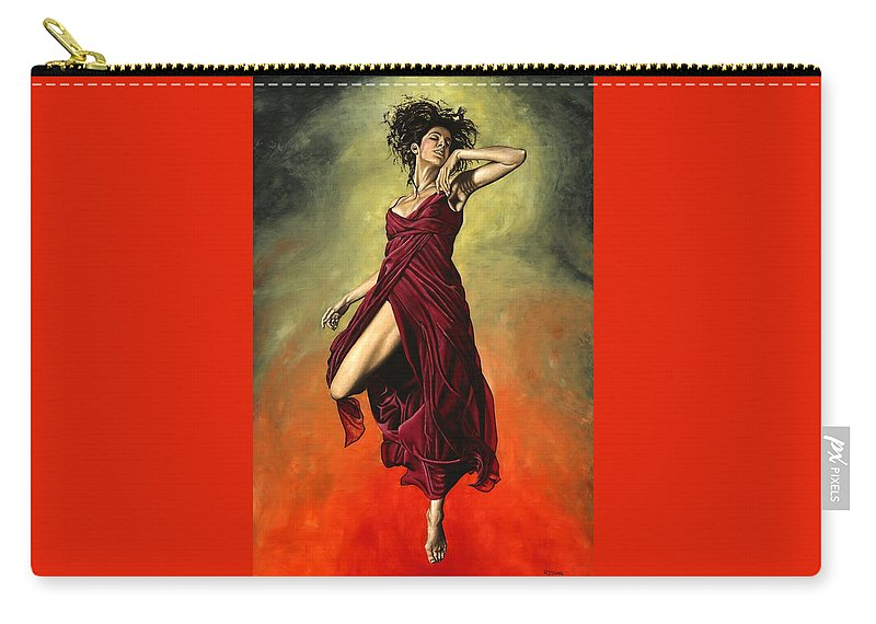 Dance Carry-all Pouch featuring the painting Destiny's Dance by Richard Young