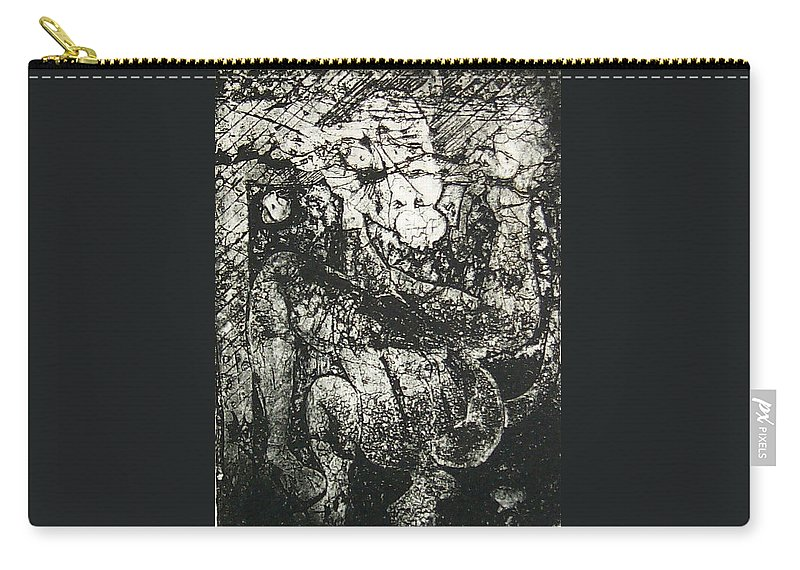 Etching Carry-all Pouch featuring the print Destroy Plate by Thomas Valentine