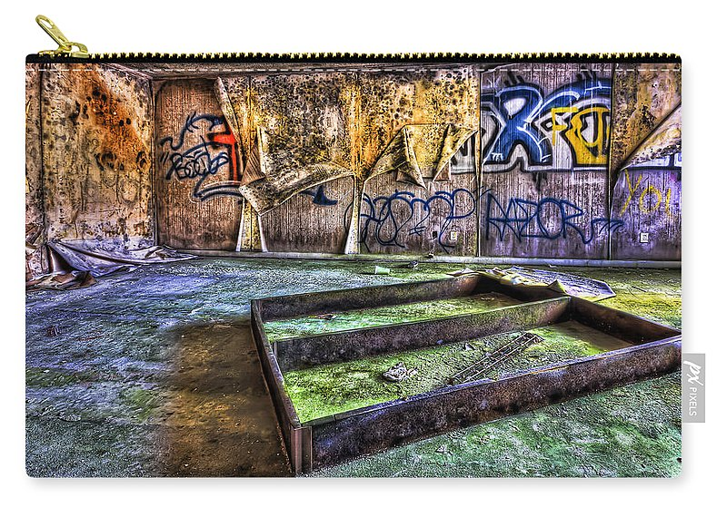 Abandoned Carry-all Pouch featuring the photograph Destroya by Evelina Kremsdorf