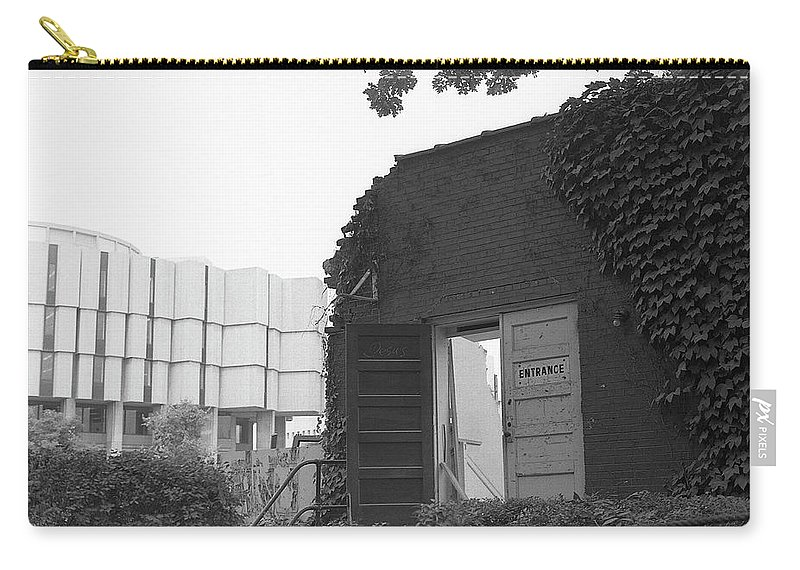 Northwestern University Carry-all Pouch featuring the photograph Destruction Of The Speech Annex, 1980 by Jeremy Butler