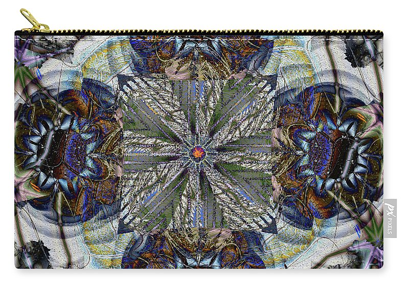 Abstract Carry-all Pouch featuring the digital art Detached by Jim Pavelle