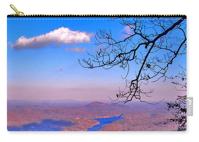 Landscape Carry-all Pouch featuring the photograph Detail From Reaching For A Cloud by Steve Karol