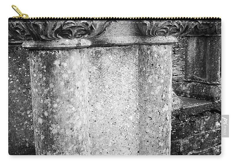 Irish Carry-all Pouch featuring the photograph Detail Of Capital Of Cloister At Cong Abbey Cong Ireland by Teresa Mucha