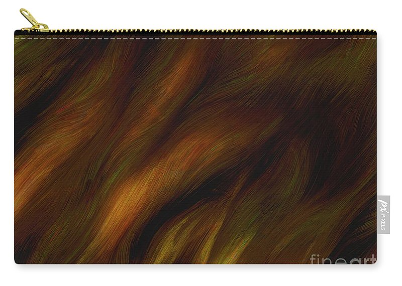 Auburn Carry-all Pouch featuring the painting Detail - Pre-raphaelite Tresses by RC DeWinter