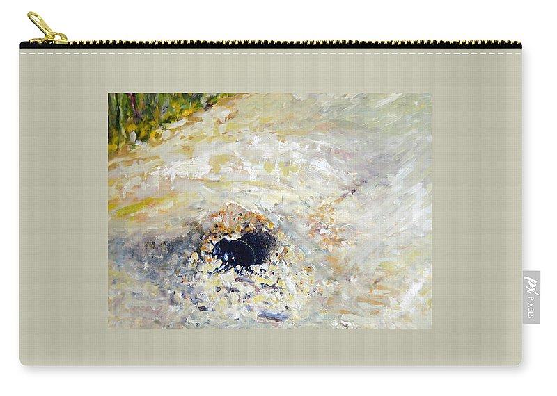 Landscape Carry-all Pouch featuring the painting Detail Slunecnic2 by Pablo de Choros