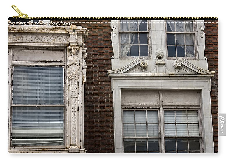 Roanoke Carry-all Pouch featuring the photograph Details Of The Patrick Henry Hotel Roanoke Virginia by Teresa Mucha