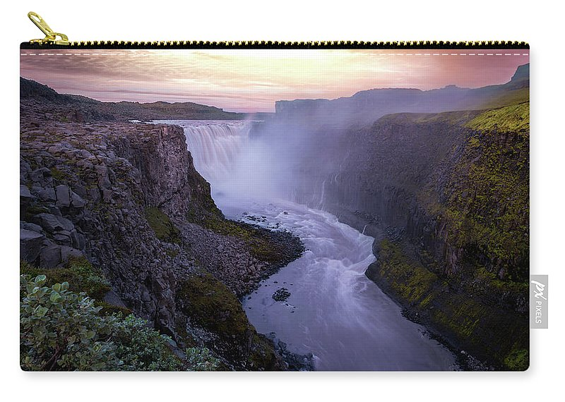 Landscape Carry-all Pouch featuring the photograph Detifoss by Siddhartha De