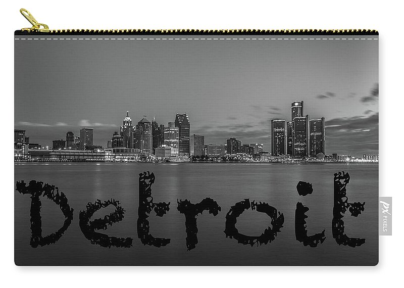 Detroit Carry-all Pouch featuring the photograph Detroit City by Pravin Sitaraman