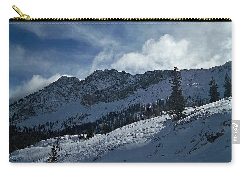 Ski Carry-all Pouch featuring the photograph Devils Castle Morning Light by Michael Cuozzo