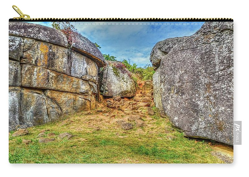 Gettysburg Carry-all Pouch featuring the photograph Devils Den Gettysburg by Tommy Anderson