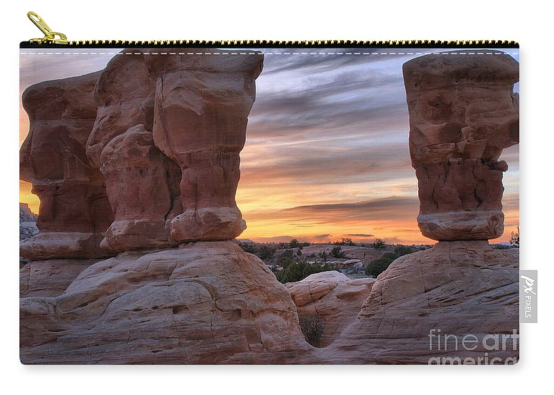 Devils Garden Carry-all Pouch featuring the photograph Devils Garden Sunset by Adam Jewell