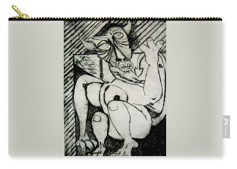 Gilr Carry-all Pouch featuring the print Devils Horse by Thomas Valentine