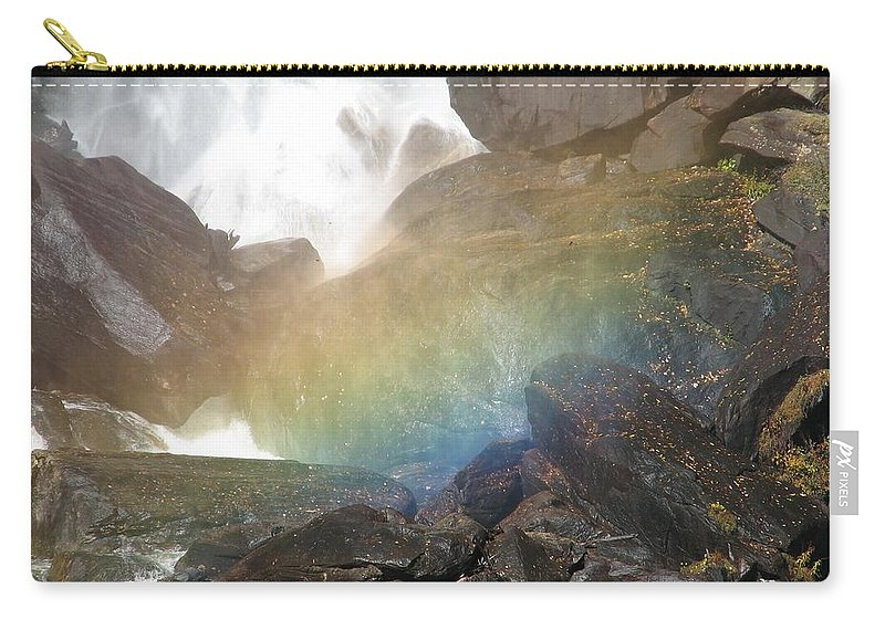 Devil's Fork Carry-all Pouch featuring the photograph Devil's Rainbow by Kelly Mezzapelle