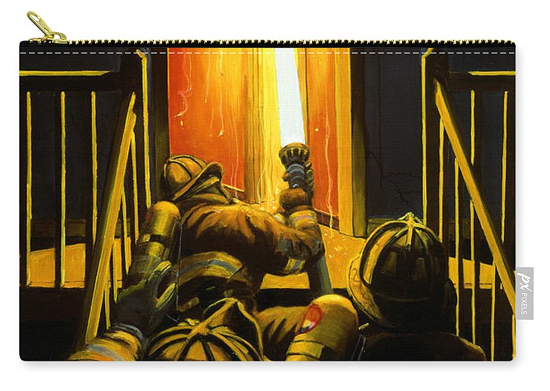 Firefighting Carry-all Pouch featuring the painting Devil's Stairway by Paul Walsh