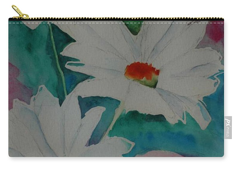 Daisies Carry-all Pouch featuring the painting Devin's Dasies by Melinda Etzold