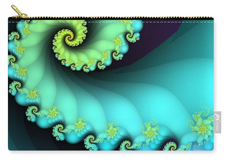 Fractal Carry-all Pouch featuring the digital art Devotion by Jutta Maria Pusl