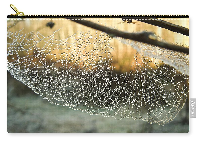 Spider Carry-all Pouch featuring the photograph Dew by Herman Robert