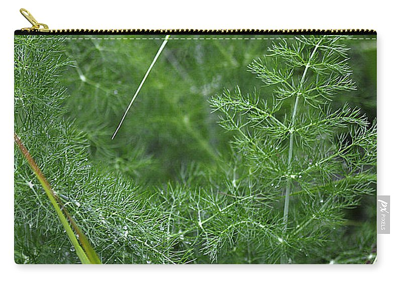 Clay Carry-all Pouch featuring the photograph Dew On The Ferns by Clayton Bruster