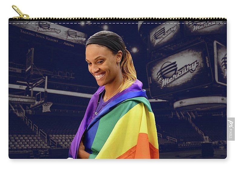 Dewanna Bonner Carry-all Pouch featuring the photograph Dewanna Bonner Lgbt Pride 5 by Devin Millington