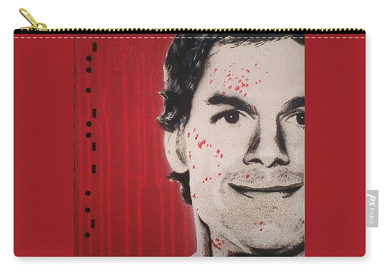 Dexter Carry-all Pouch featuring the painting Dexter by Gary Hogben