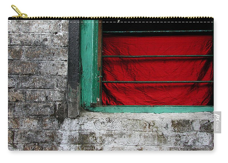 Red Carry-all Pouch featuring the photograph Dharamsala Window by Skip Hunt