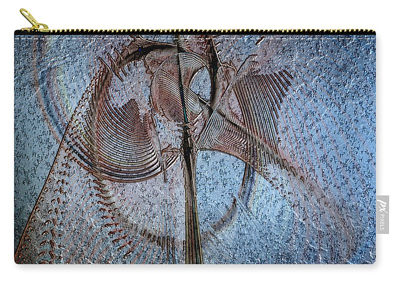 Abstract Carry-all Pouch featuring the digital art Diachrony Of Altruism by Casey Kotas