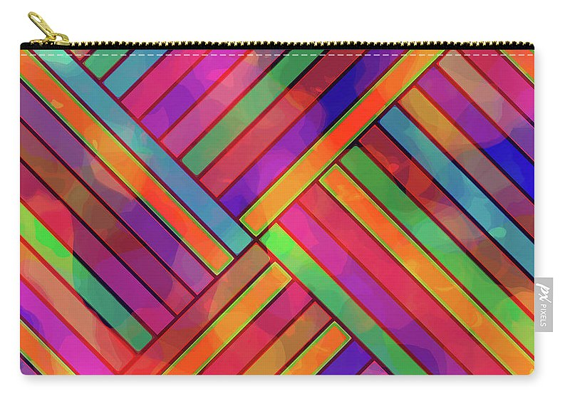 Diagonal Carry-all Pouch featuring the digital art Diagonal Offset by Diane Parnell