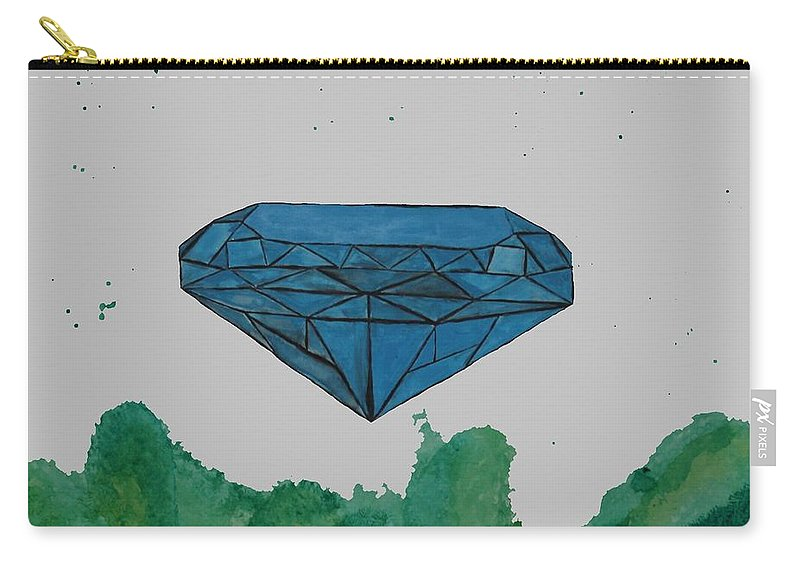 Acrylic Carry-all Pouch featuring the painting Diamond by Anelisa Artist Photographer
