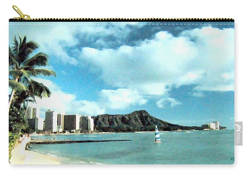 1986 Carry-all Pouch featuring the digital art Diamond Head by Will Borden