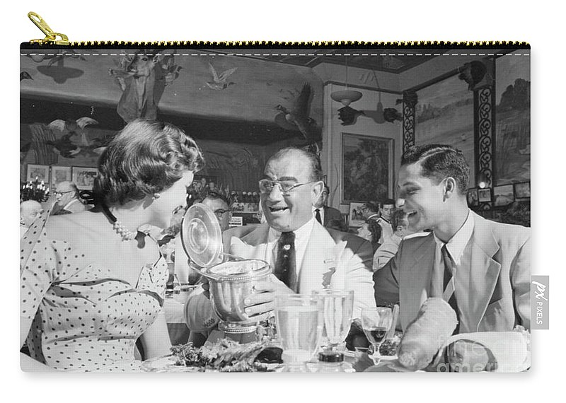 Diamond Jim Moran Carry-all Pouch featuring the photograph Diamond Jim Moran, Entertaining Guests At His Restaurant In New by The Harrington Collection