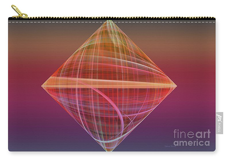 Fractal Carry-all Pouch featuring the photograph Diamond Ripple by Deborah Benoit