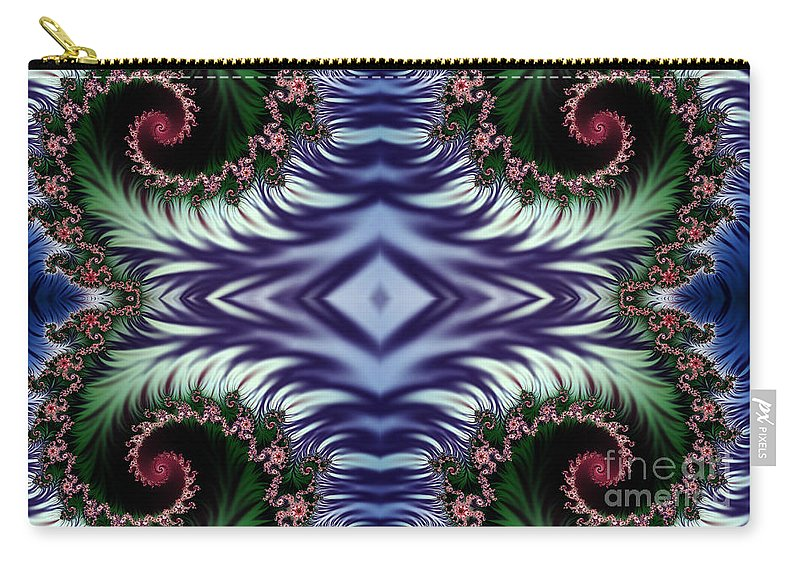 Clay Carry-all Pouch featuring the digital art Diamonds Are Forever by Clayton Bruster